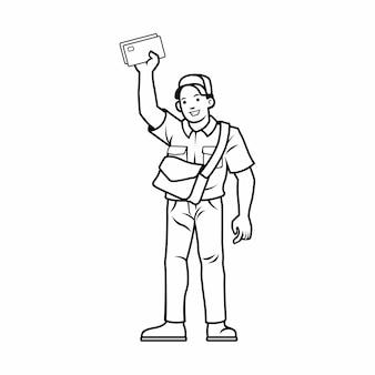 Mailman/postman character