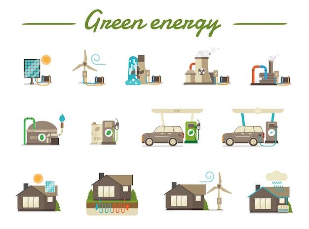Main green energy types