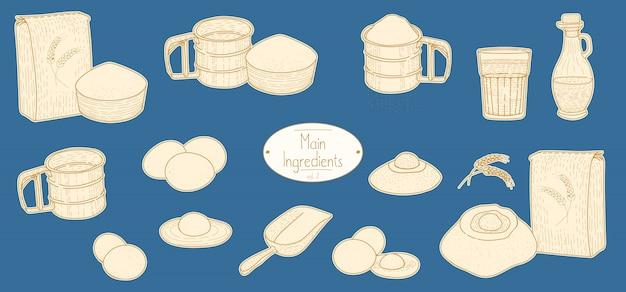 Main ingredients of italian pasta recipe