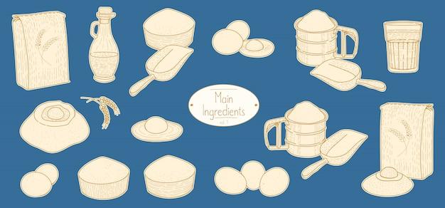 Main ingredients for pasta recipe