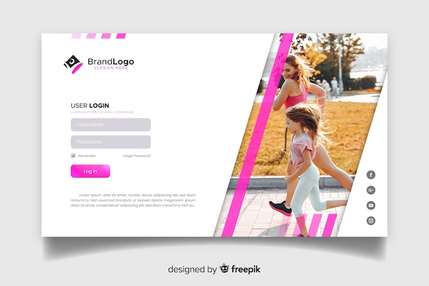 Main page sport web template