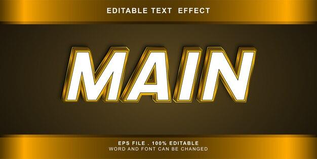 Main text effect editable