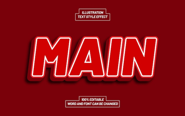 Main text style effect