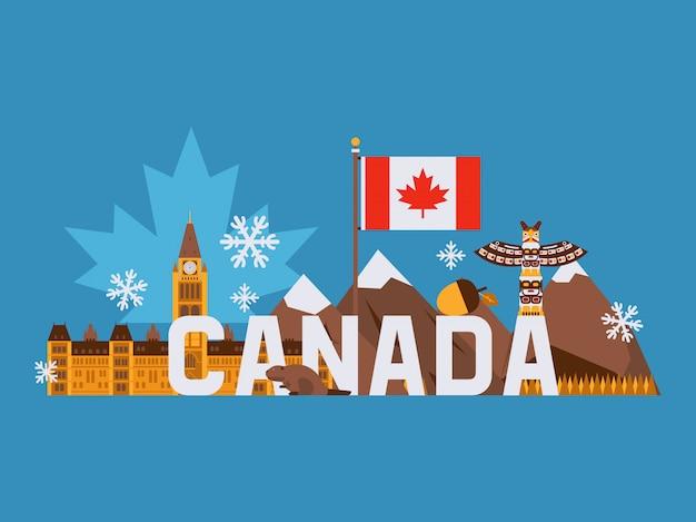Main tourist symbols of canada