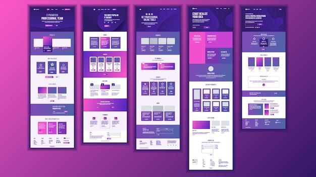 Main web page design