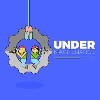 Under maintenance illustration