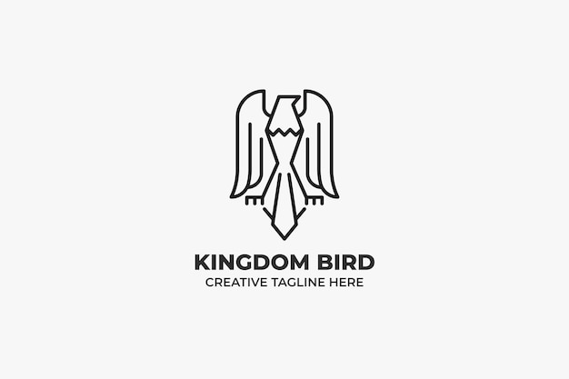 Majestic eagle bird monoline business logo