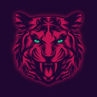 Majestic tiger illustration