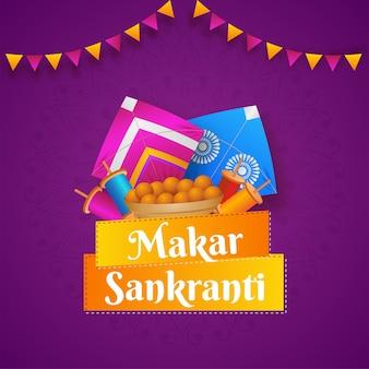 Makar sankranti concept with kites
