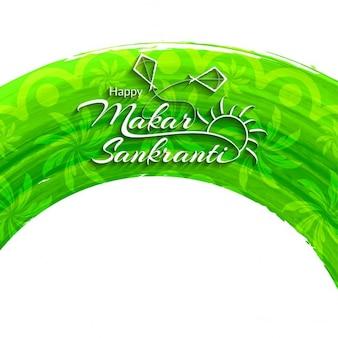 Makar sankranti, light green background