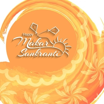 Makar sankranti, orange background