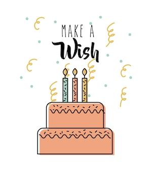양초 축하와 함께 맛있는 케이크를 기원합니다