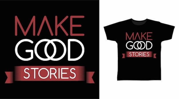 티셔츠 디자인을 위한 좋은 이야기 타이포그래피 만들기