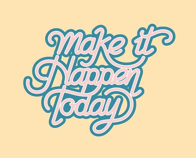 오늘 타이포그래피 디자인을 실현하십시오