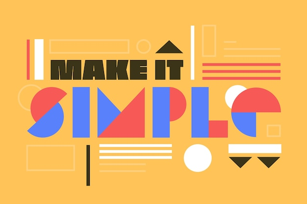Make it simple graphic design lettering