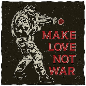 Make love not war illustration