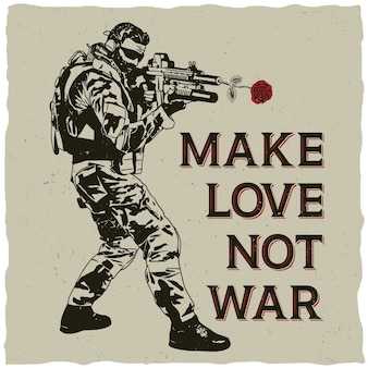 Make love not war illustrazione