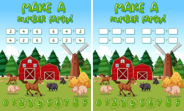 Make a number family farm