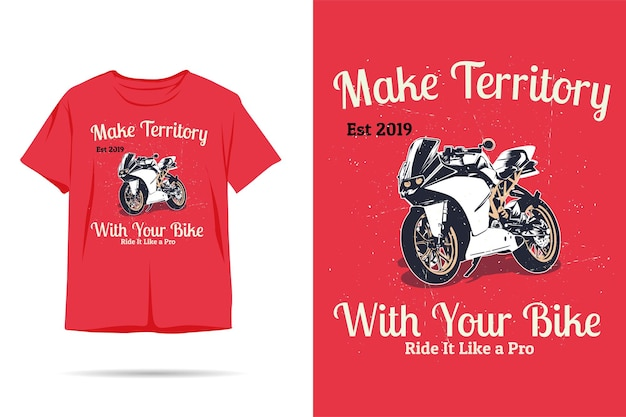 Make territory with your bike silhouette tshirt design