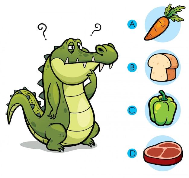 Сделайте правильный выбор соедините животных с их едой