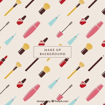 Make up background with pattern style