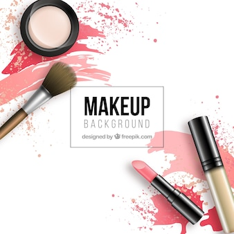 Make up background with realistic style