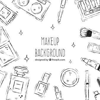 Make up background with sketchy style