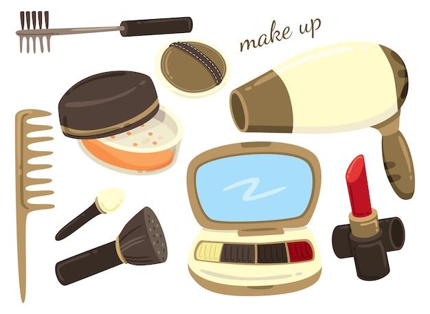 Make up equipment illustration