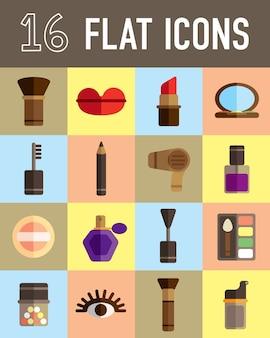 Make up kit flat icon