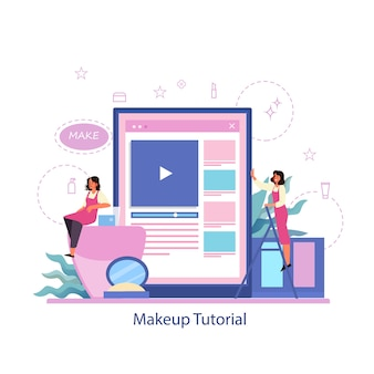 온라인 서비스를 구성하십시오. 온라인 비디오 튜토리얼, 블로깅을 구성하십시오.