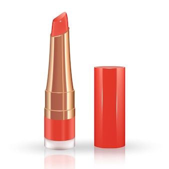 Make-up set for lips with realistic liquid lipstick container.
