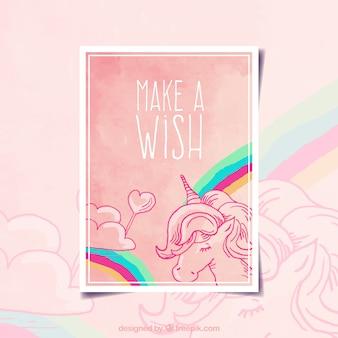 Make a wish card design