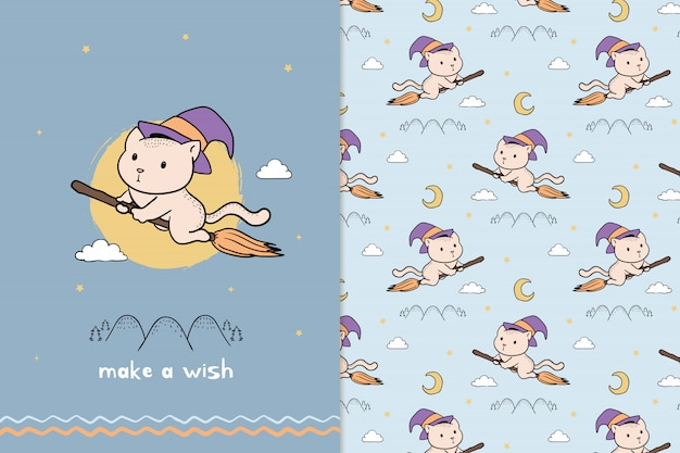 Make a wish cat witch pattern