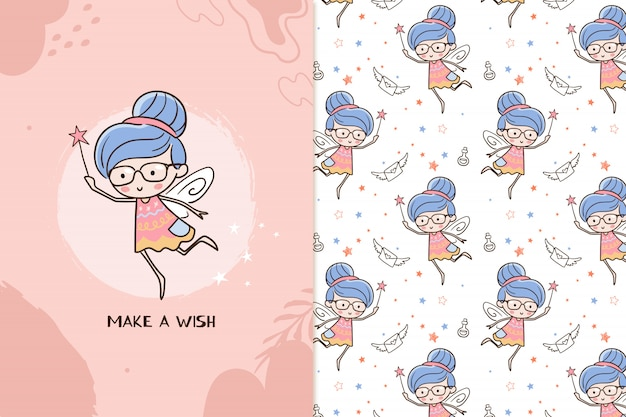 Make a wish fairy pattern