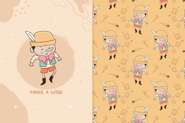 Make a wish pinocchio pattern