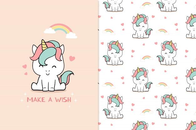 Make a wish unicorn patter