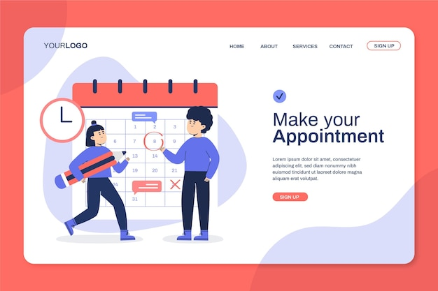 Make your appointment meet people landing page