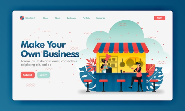 Make your own business cartoon style