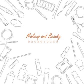 メイクアップと美容の背景