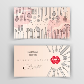Makeup artist business card template.