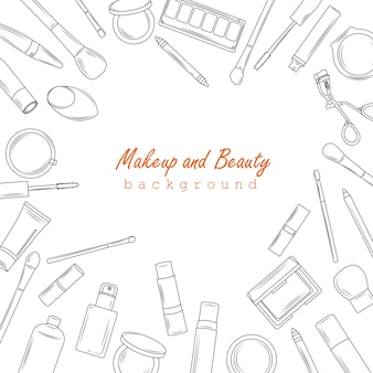 Makeup and beauty background