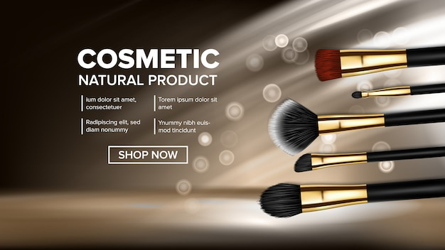 Makeup brush banner