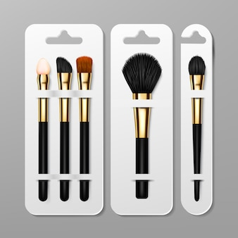 Makeup brush packaging set