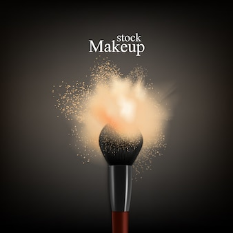 Makeup brush powder