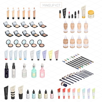 Makeup kit isometric