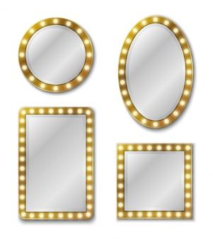 Makeup mirror.