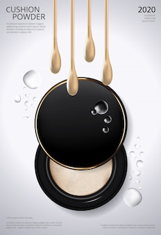 Makeup powder cushion poster template