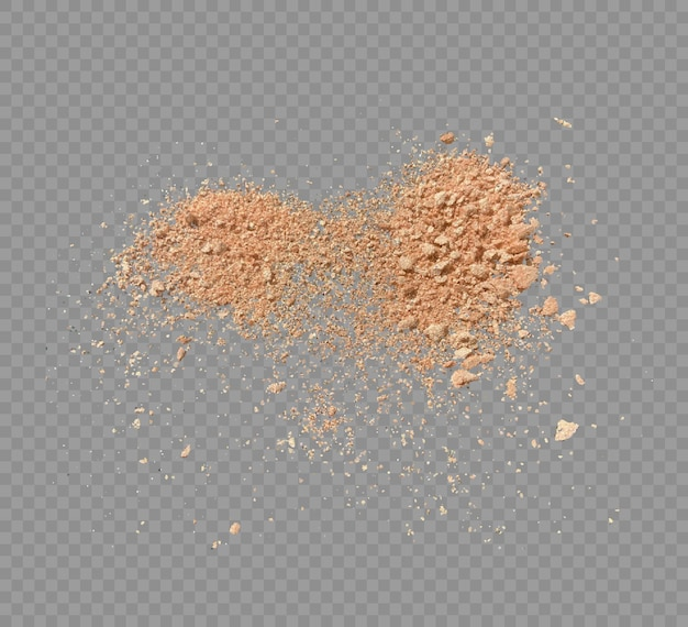 Makeup powder isolated vector illustration of cosmetic powder
