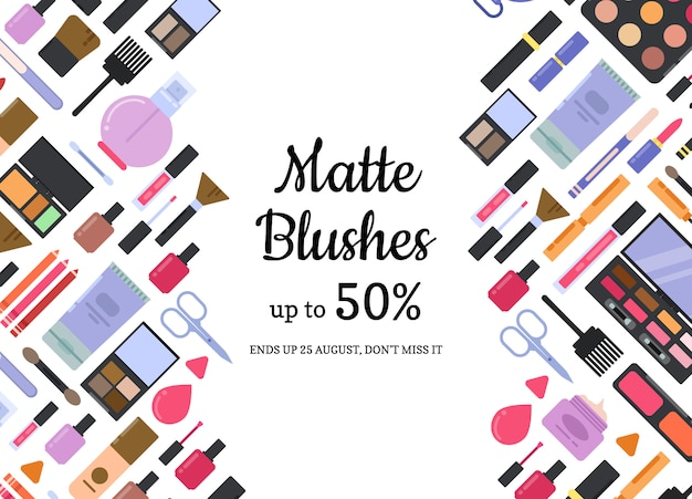 Makeup and skincare sale background