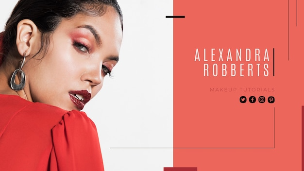 Makeup youtube cover template